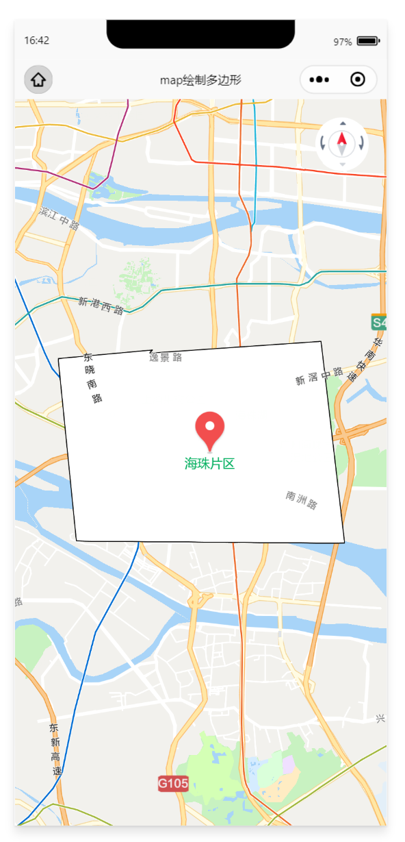 微信小程序map地图使用polygon绘制多边形片区